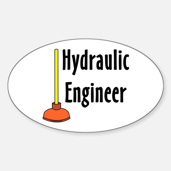 Hydraulic Engineer Plunger Sticker (Oval)