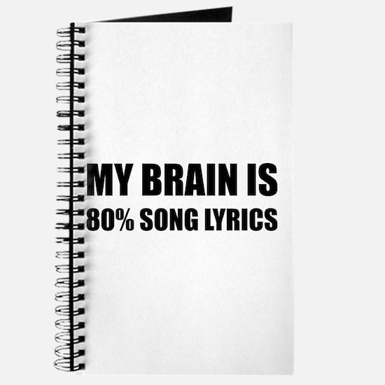 Brain Song Lyrics Journal
