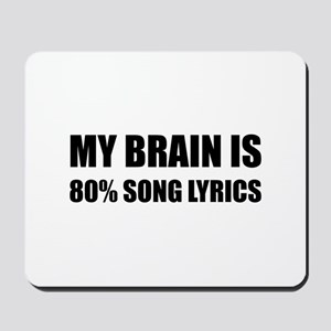 Brain Song Lyrics Mousepad