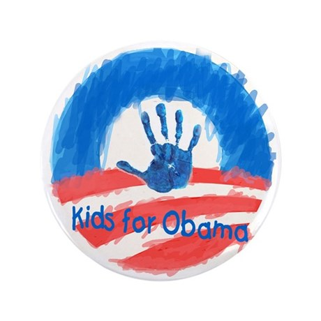 "Kids for Obama 3.5"" Button (100 pack)"