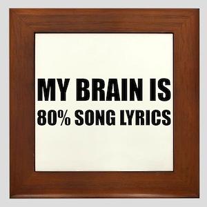 Brain Song Lyrics Framed Tile