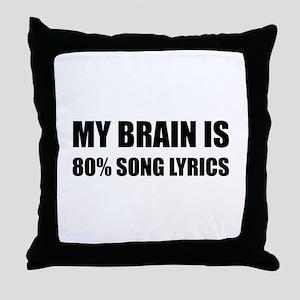 Brain Song Lyrics Throw Pillow