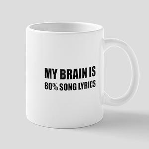 Brain Song Lyrics Mugs