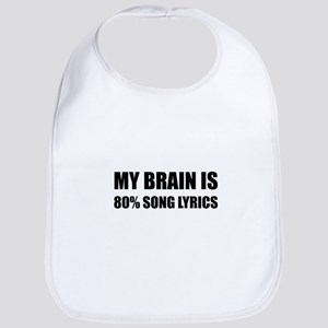 Brain Song Lyrics Baby Bib