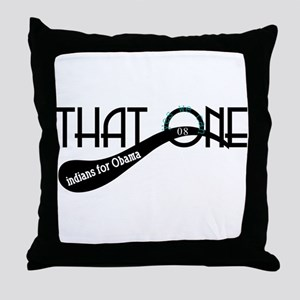 indians for Obama Throw Pillow