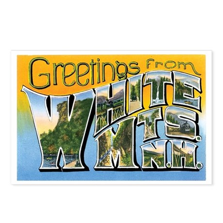 White MTS. New Hampshire Postcards (Package of 8)