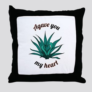 agave you my heart Throw Pillow