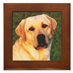 Yellow Labrador Retriever Framed Tile