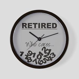 Fallen Numbers Retirement Wall Clock