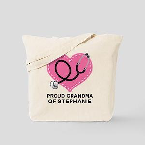 Proud Grandma Of A Nurse Doctor Tote Bag