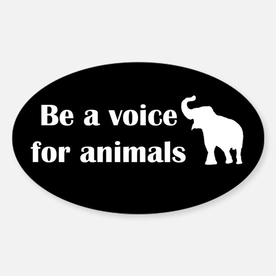 Be a voice Oval Decal