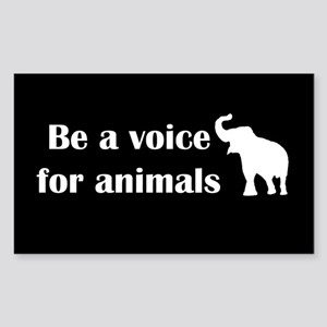 Be a voice Rectangle Sticker