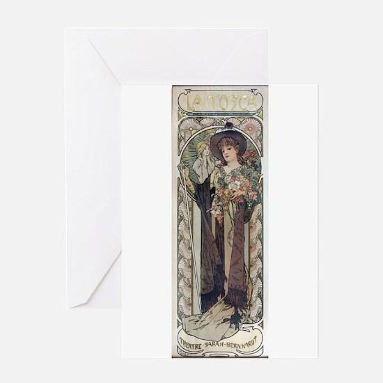 Sarah Bernhardt in Tosca Greeting Card