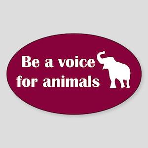 Be a voice Oval Sticker