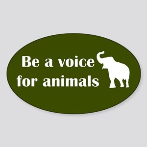 Be a voice Oval Sticker