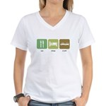 Eat Sleep Crash Cars Women's V-Neck T-Shirt