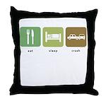 Eat Sleep Crash Cars Throw Pillow
