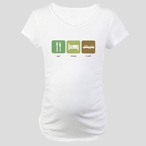 Eat Sleep Crash Cars Maternity T-Shirt