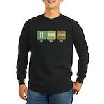 Eat Sleep Crash Cars Long Sleeve Dark T-Shirt