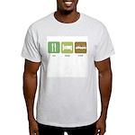Eat Sleep Crash Cars Light T-Shirt