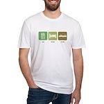 Eat Sleep Crash Cars Fitted T-Shirt