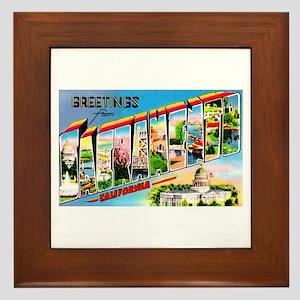 Sacramento California Greetings Framed Tile