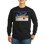 XmasSunrise/2 Poodles Long Sleeve Dark T-Shirt