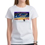 XmasSunrise/2 Poodles Women's T-Shirt