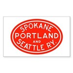 SP&S Rectangle Sticker 50 pk)