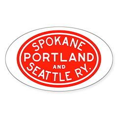 SP&S Oval Sticker (50 pk)
