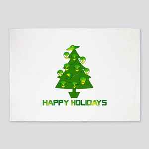 Alien Christmas Tree 5'x7'Area Rug