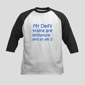 My Dad's Trains Kids Baseball Jersey