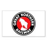 Great Northern Rectangle Sticker 10 pk)