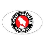 Great Northern Oval Sticker (50 pk)