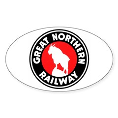Great Northern Oval Sticker (10 pk)