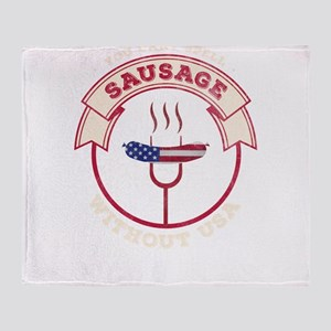 You can't spell sausage without Throw Blanket
