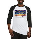 XmasSunrise/Poodle (min) Baseball Jersey
