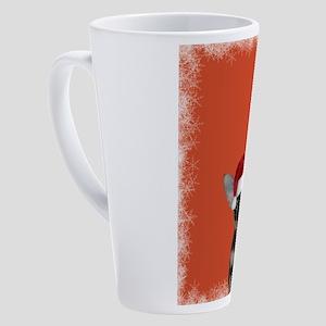 Christmas Chihuahua puppy 17 oz Latte Mug