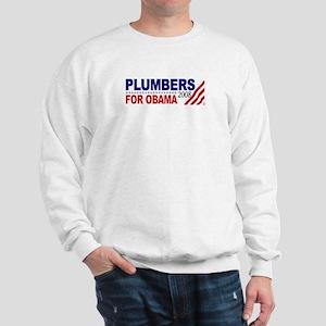 Plumbers for Obama 2008 Sweatshirt