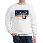 XmasSunrise/3 Std Poodles Sweatshirt
