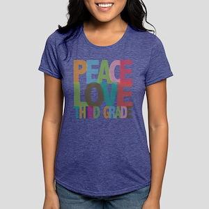 Peace Love Third Grade T-Shirt