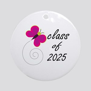 Cute Class Of 2025 Ornament (Round)