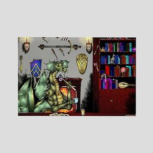Dragon's Den Rectangle Magnet