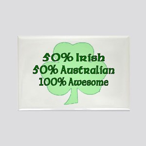 50% Irish, 50% Australian, 10 Rectangle Magnet