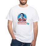 Obama is Senator Government White T-Shirt