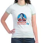 Obama is Senator Government Jr. Ringer T-Shirt