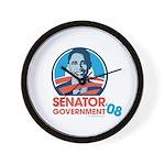 Obama is Senator Government Wall Clock