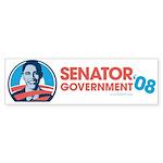 Obama is Senator Government Bumper Sticker (50 pk)