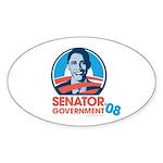 Obama is Senator Government Oval Sticker (10 pk)