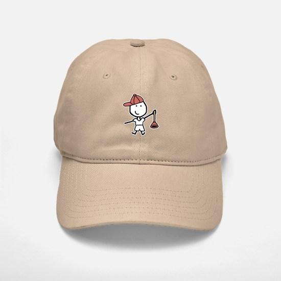 Boy & Plumber Baseball Baseball Cap
